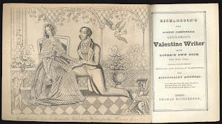 A title page with a fold-out illustration of a courting couple.