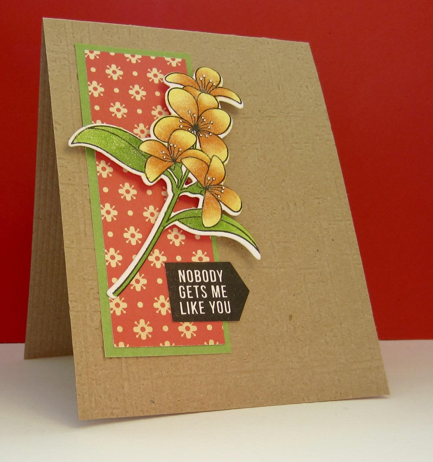 nonni's handmade cards retroish flowers