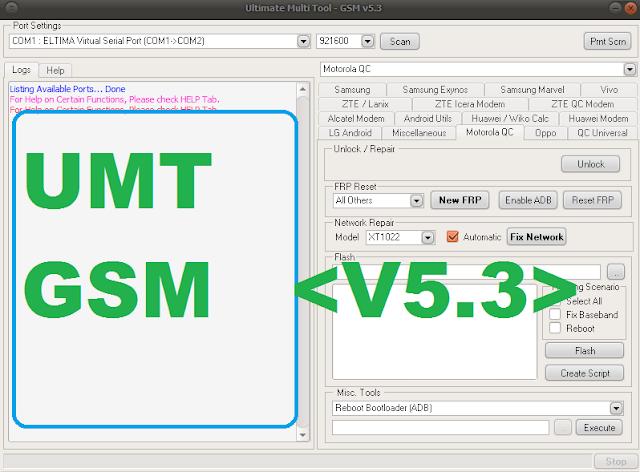 UMTv2 / UMTPro UltimateGSM v5.3 - Added 19  More Motorola & Asus Free Download