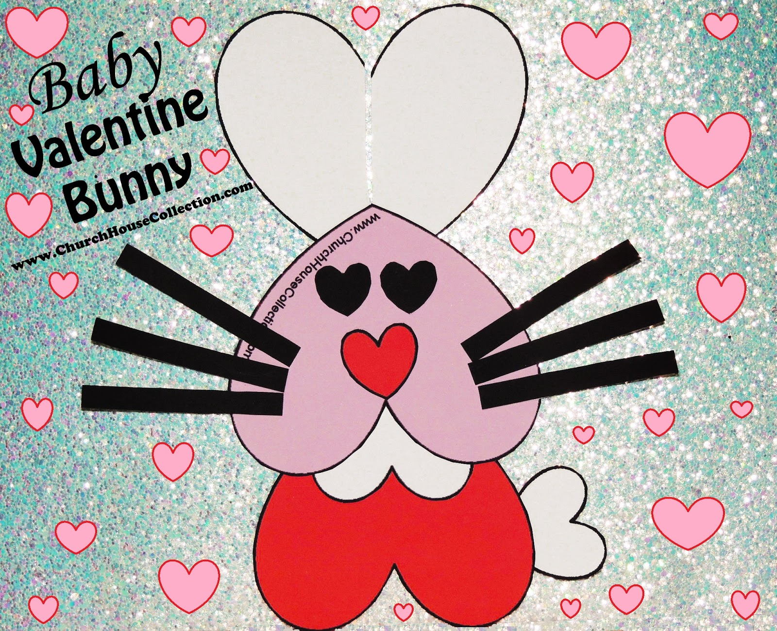 Church House Collection Blog Baby Valentine Bunny Valentine S Day Heart Rabbit Crafts For Kids