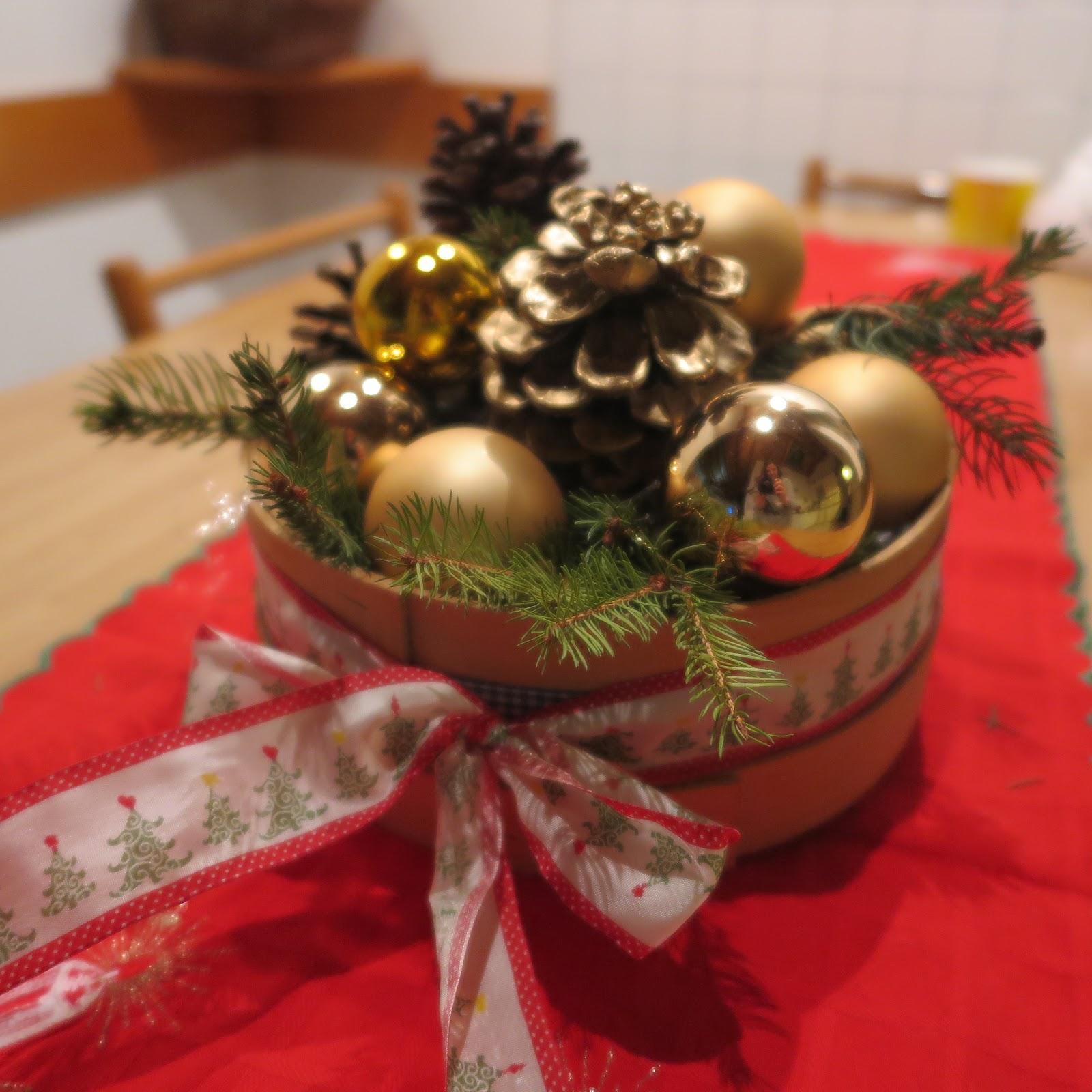 Palline Di Natale Con Rametti cartafyche: centrotavola natalizio