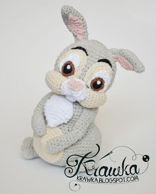 Krawka: Easter Thumper Rabbit from Bambi Disney movie crochet pattern by Krawka