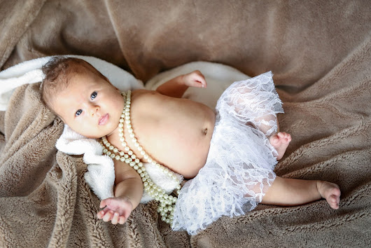 Celilia Rose - 2 months old - Photos taken on a yacht!