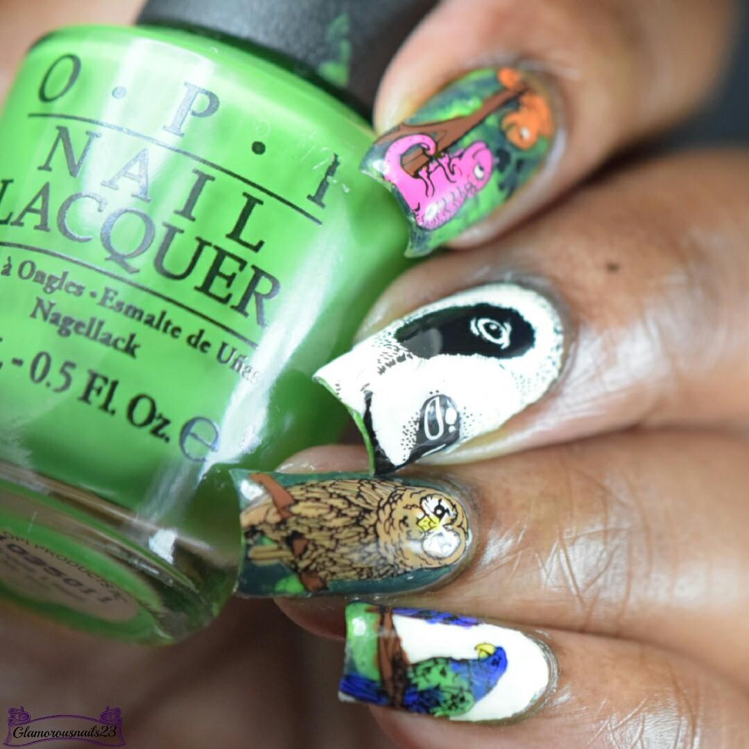 Smoosh With Reverse Stamping Nail Art - Glamorousnails23