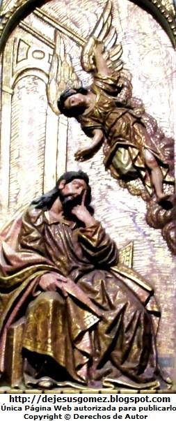 Imagen del sueño de San José junto a un Angel. Foto de San José de Jesus Gómez