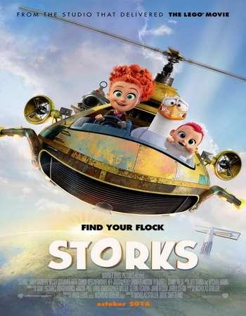 Poster Of Storks 2016 English 350MB BRRip 720p ESubs HEVC Free Download Watch Online downloadhub.in