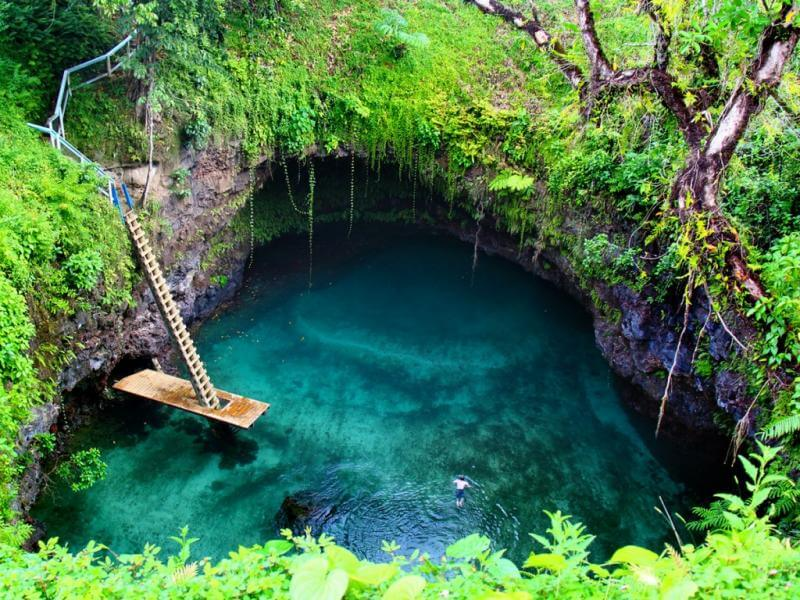 32 Stunning Places on Earth You Should Visit Before You Die - To Sua Ocean Trench, Samoa