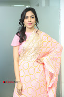 Actress Ritu Varma Pos in Beautiful Pink Anarkali Dress at at Keshava Movie Interview .COM 0001.JPG