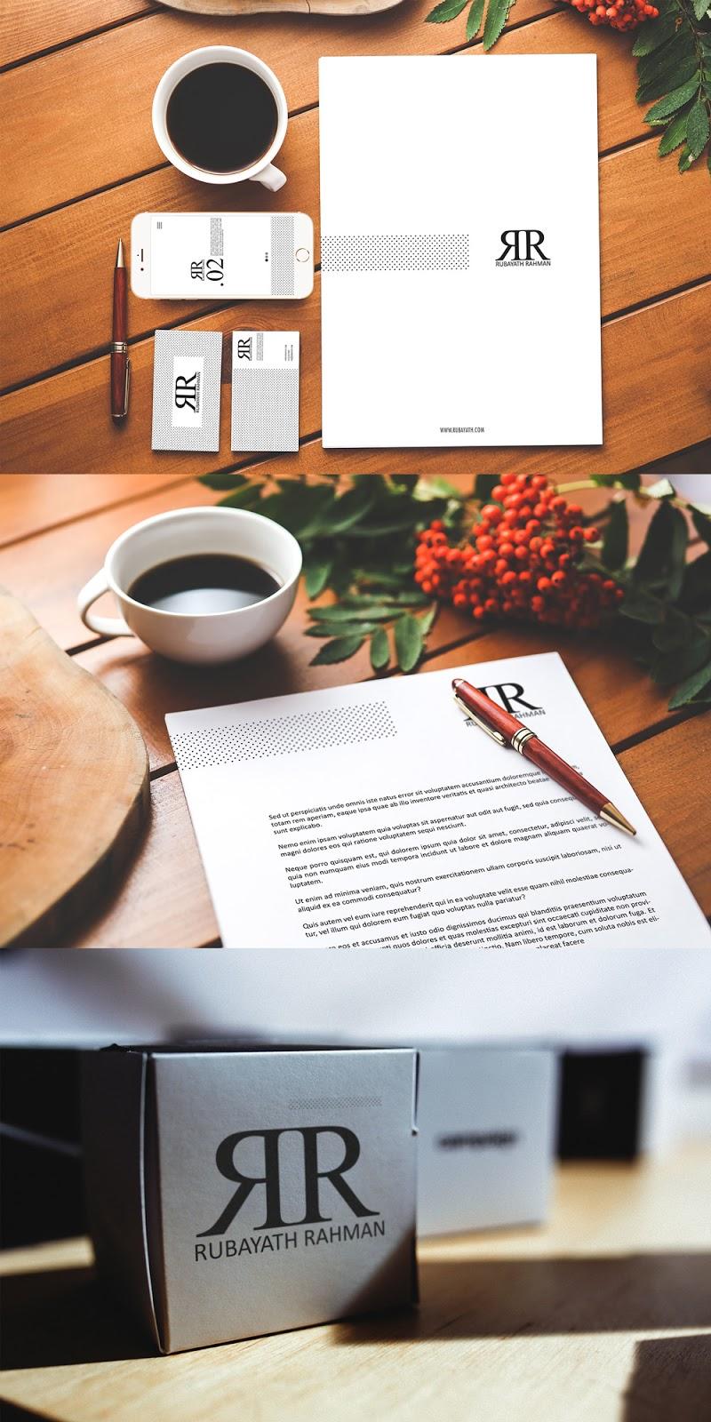 Branding Identity Presentation PSD Mockup