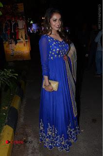 Telugu Actress Tejaswi Madivada Pos in Blue Long Dress at Nanna Nenu Na Boyfriends Audio Launch  0102.JPG