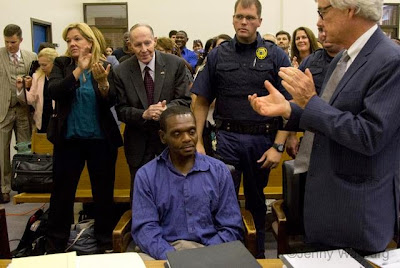 Henry McCollum is exonerated by DNA evidence after 3 decades on death row.