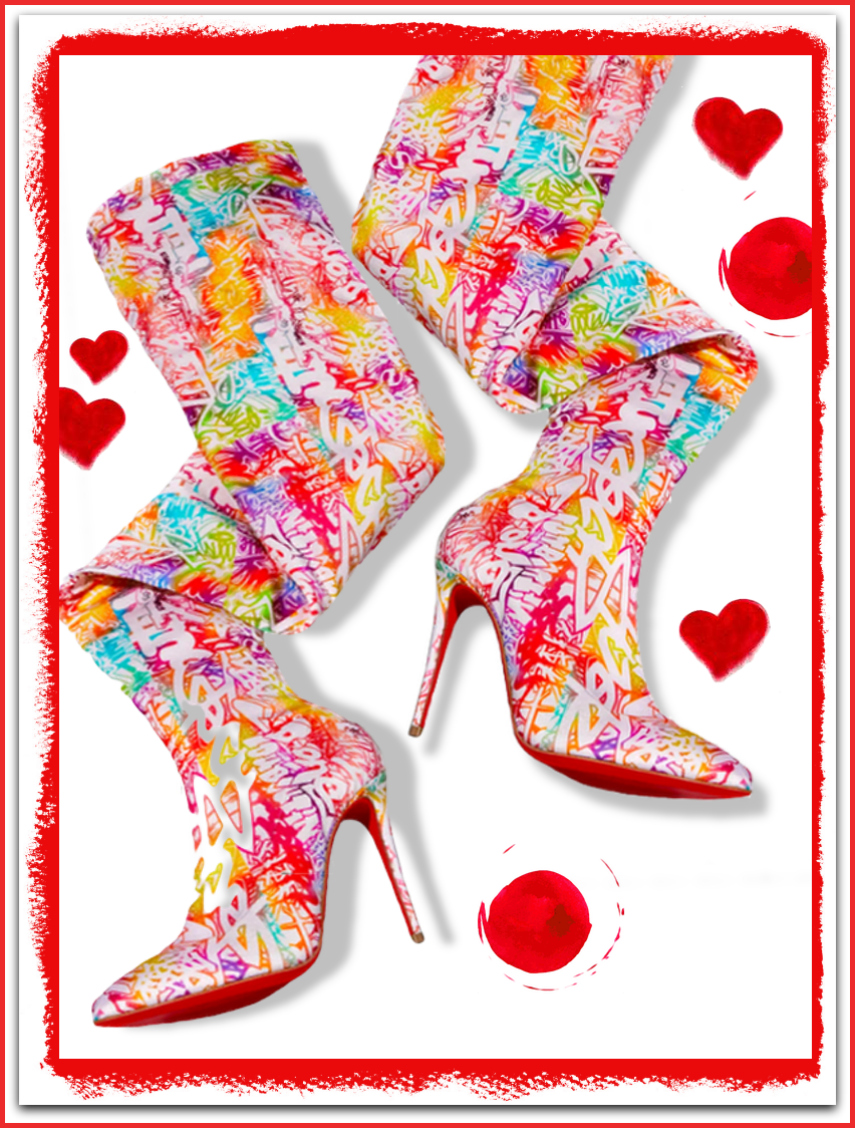 Christian Louboutin Gravitissima Over-The-Knee Red Sole Boots