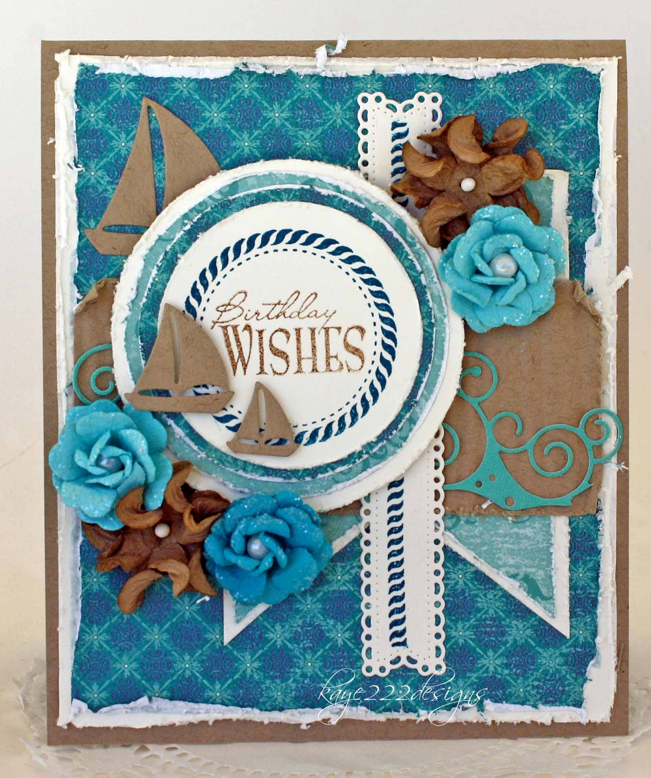 I Really Love Using Kraft Cardstock And Lately Have Been Teal Quite A Bit Guess Im Ready For Vacation Originally Started Off Making Manly