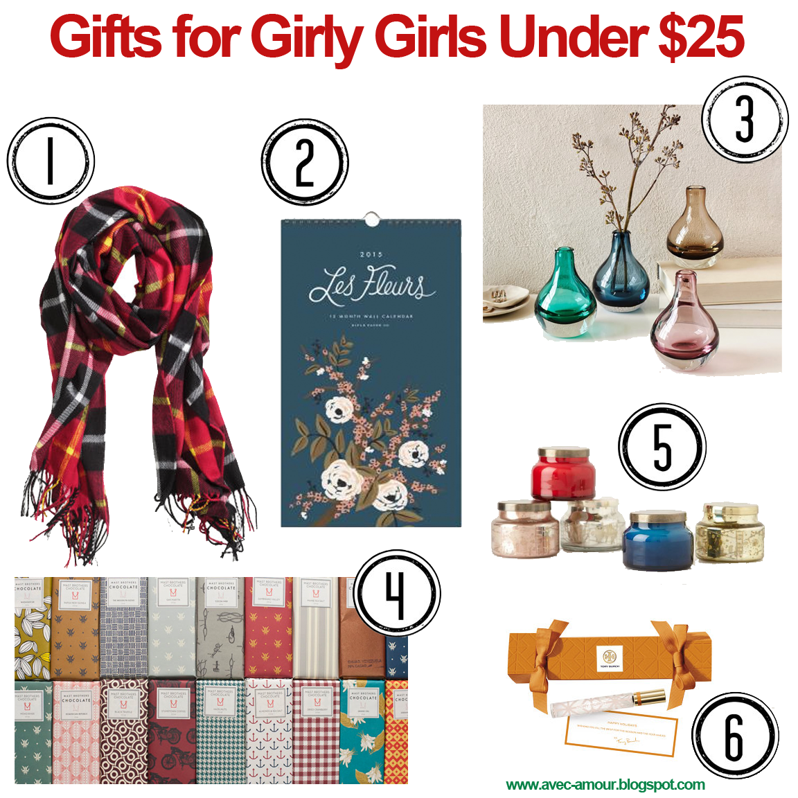 Avec Amour - Gift Guide: Gifts for Her Under $25