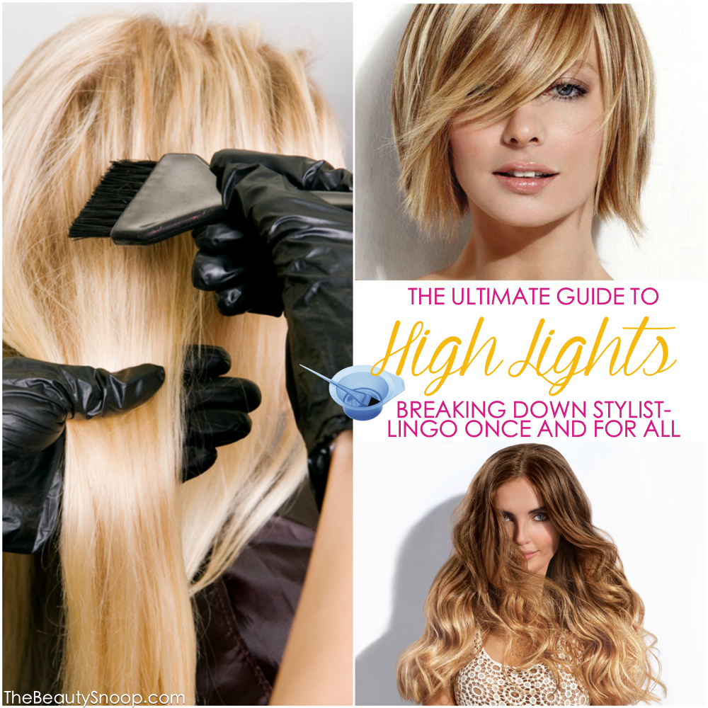 explanation of the differences between balayage, ombre, foiling, highlights, tipping