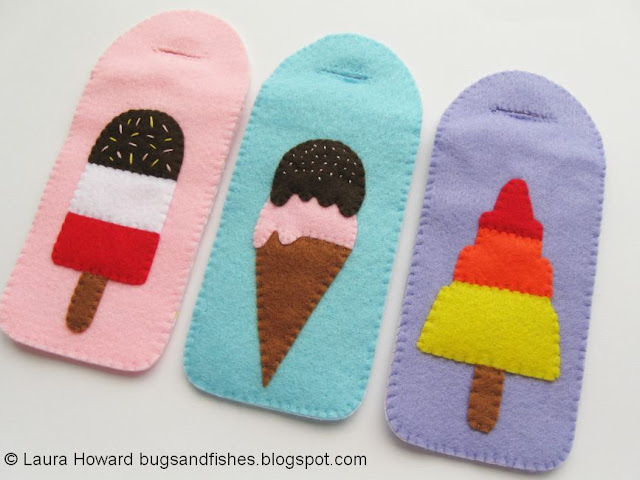 felt ice lolly phone cases