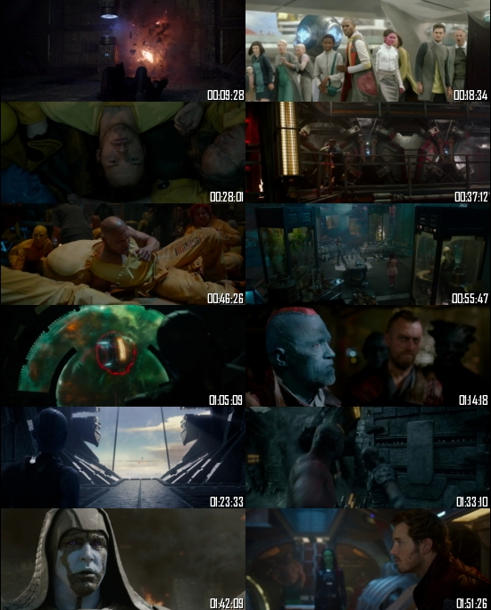 Guardians of the Galaxy 2014 BRRip 720p 480p Dual Audio Hindi English Full Movie Download