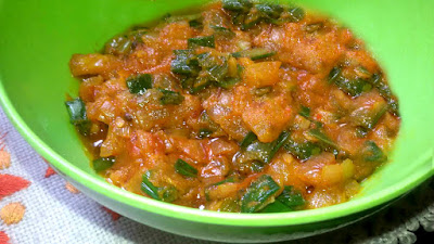 Spicy And Tangy Spring Onion Curry Food Recipe