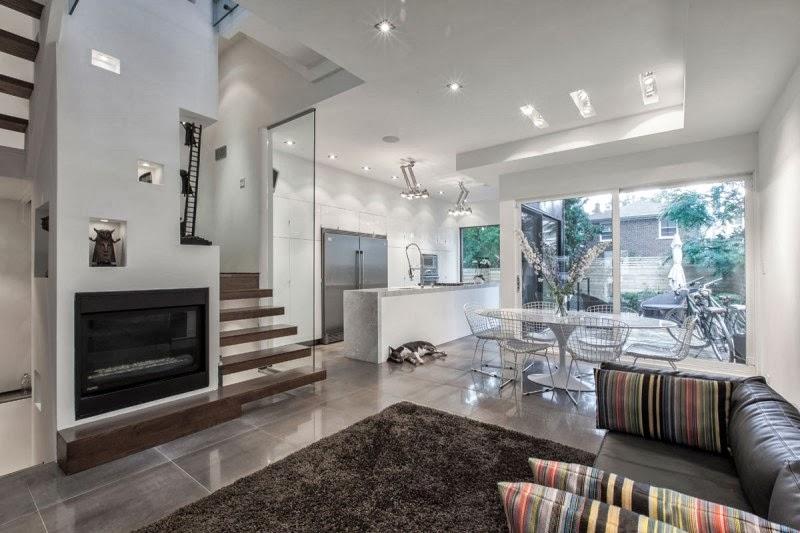 Hogares frescos casa con arquitectura exterior moderna y for Casa moderna 9 mirote y blancana