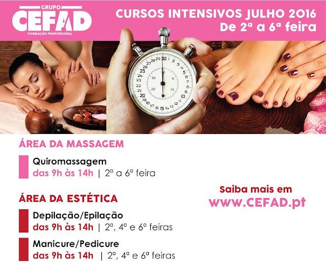 Cursos Intensivos de Massagem no CEFAD em Lisboa