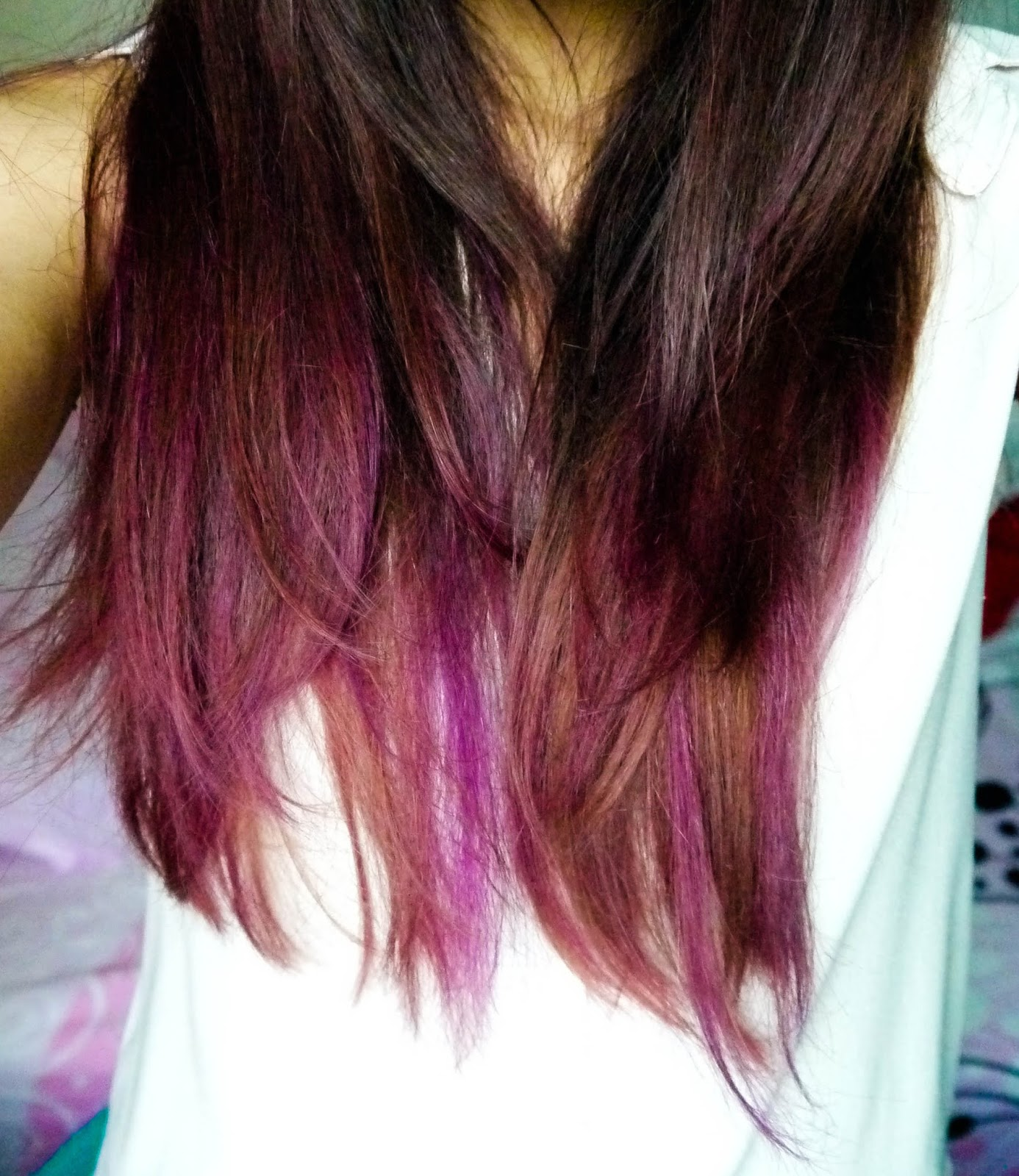 Pink Brown Hair with Purple Highlights ~ Mishpochas