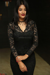Actress Monica in spicy transparent Black Top at O Pilla Nee Valla Movie Audio Launch Feb 2017 096.JPG