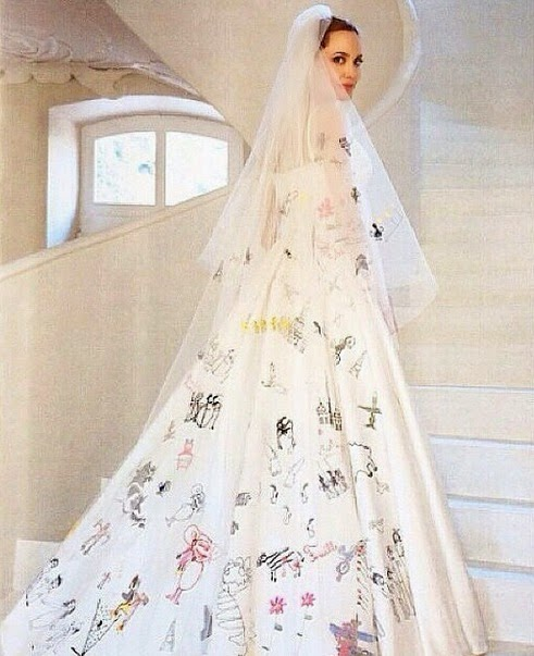 Angelina Jolie vestido de casamento