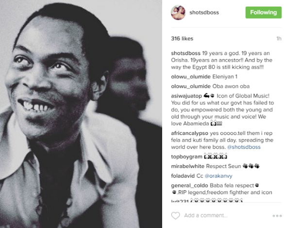 AFROBEAT LEGEND, FELA'S SONS SUEN AND FEMI KUTI PAYS TRIBUTE TO