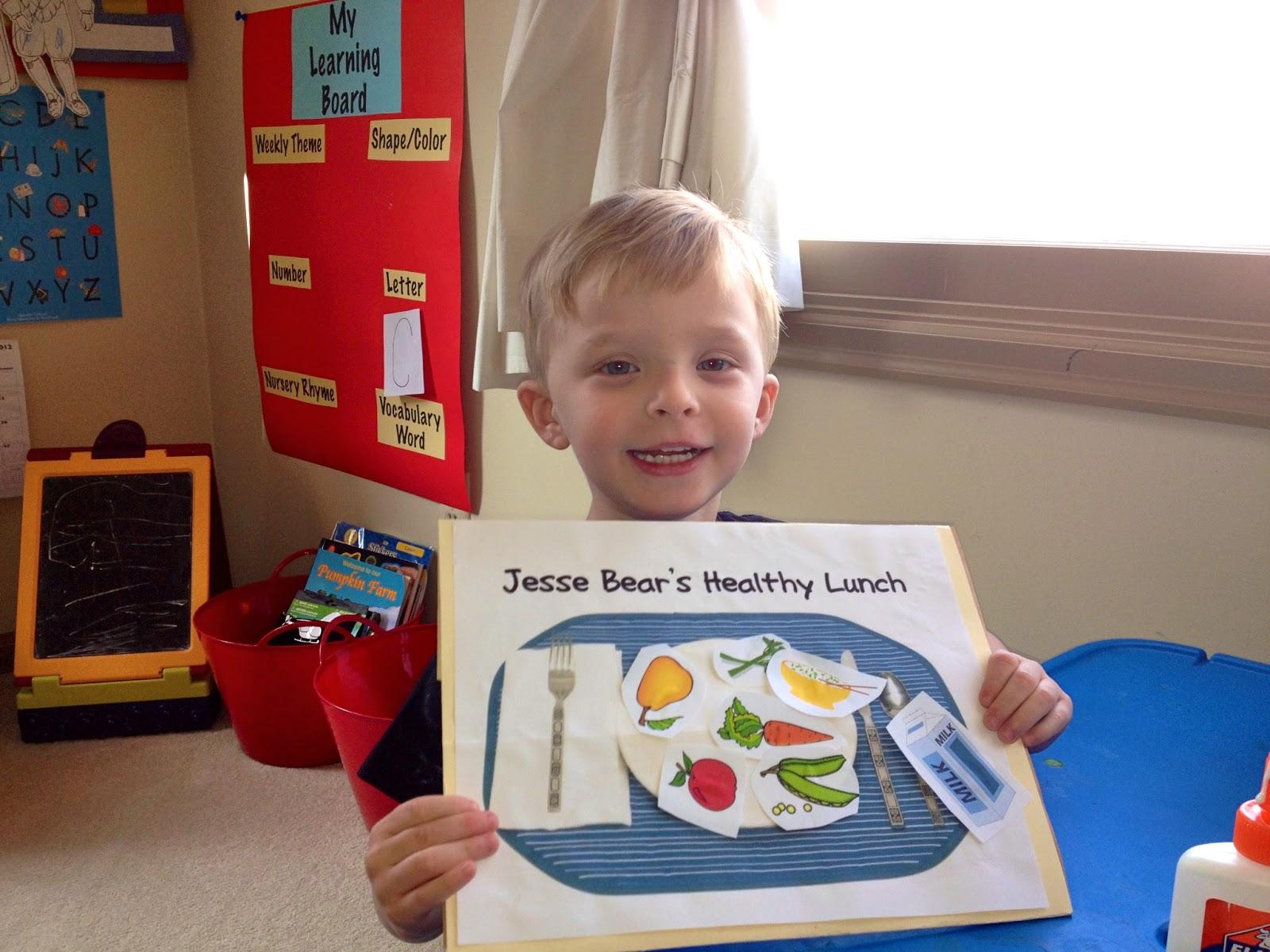 The Happy Active Homeschooler Preschool Corner Jesse Bear What Will You Wear