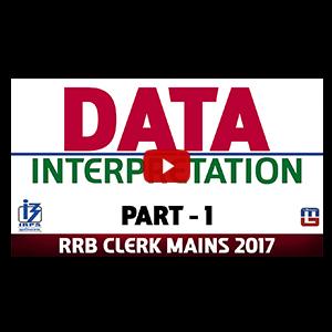 Data Interpretation | Part 1 | Maths | RRB CLERK MAINS 2017