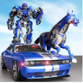 US Police Transform Robot Car Cop Wild Horse Games Apk