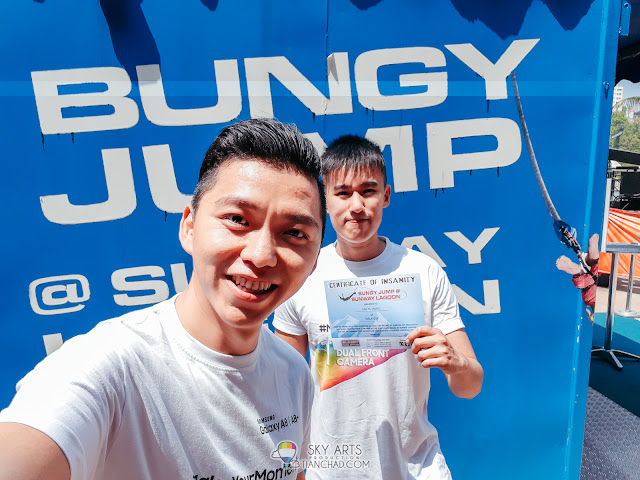You will get the Certificate of Insanity after complete the Bungee Jump mission in Sunway Lagoon