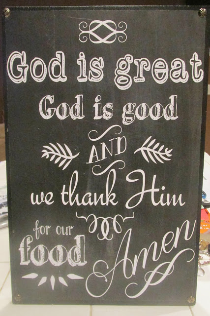 God is Great Prayer - Paper Mounted on Wood