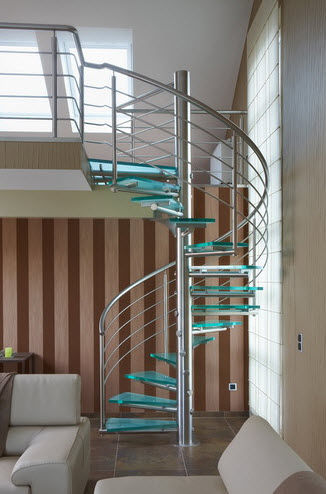 Modern homes glass steps designs ideas.