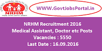 NRHM Recruitment 2016