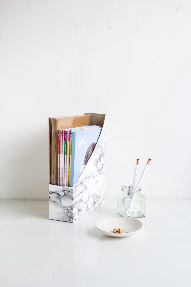 DIY Desk Magazine Holder