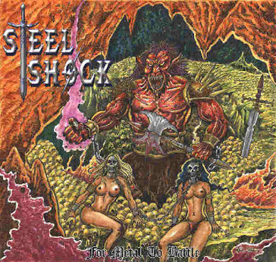 "Steel Shock - ""Shockwave of Steel"" (lyric video) from the album ""For Metal to Battle"""