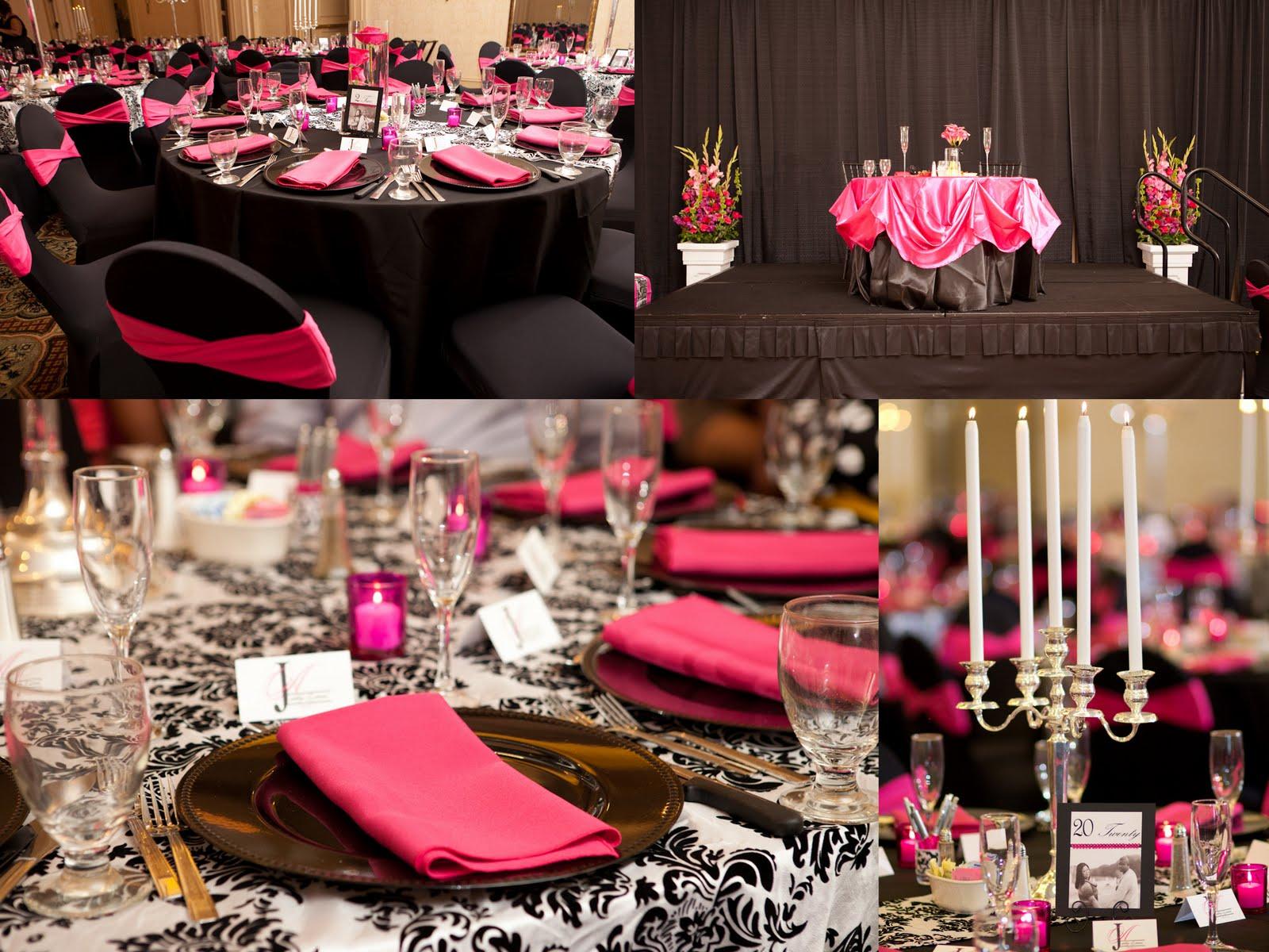 Lovely Wedding Reception Decorations Black And White Wedding