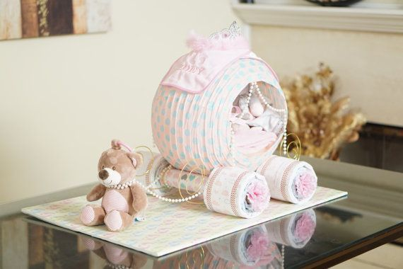 DIY: Cinderella Carriage Diaper Cake.