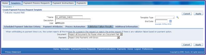 Oracle Applications: Oracle R12 AP Checks Setups and Process