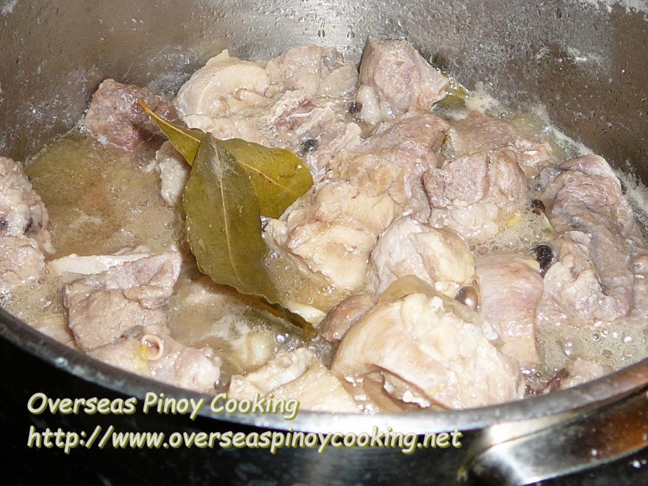 Adobong Puti, No Soy Sauce Adobo - Cooking Procedure