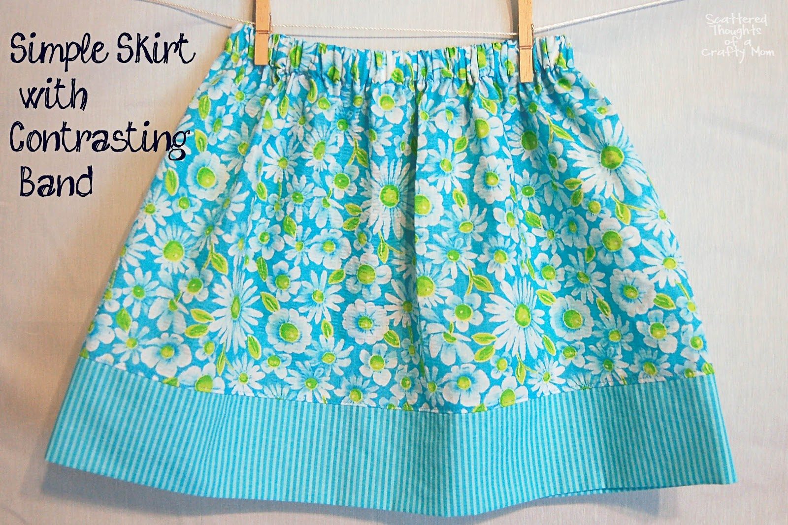 10c70e12e417 Simple Skirt Tutorial with Options for 3 Different Looks - Scattered ...