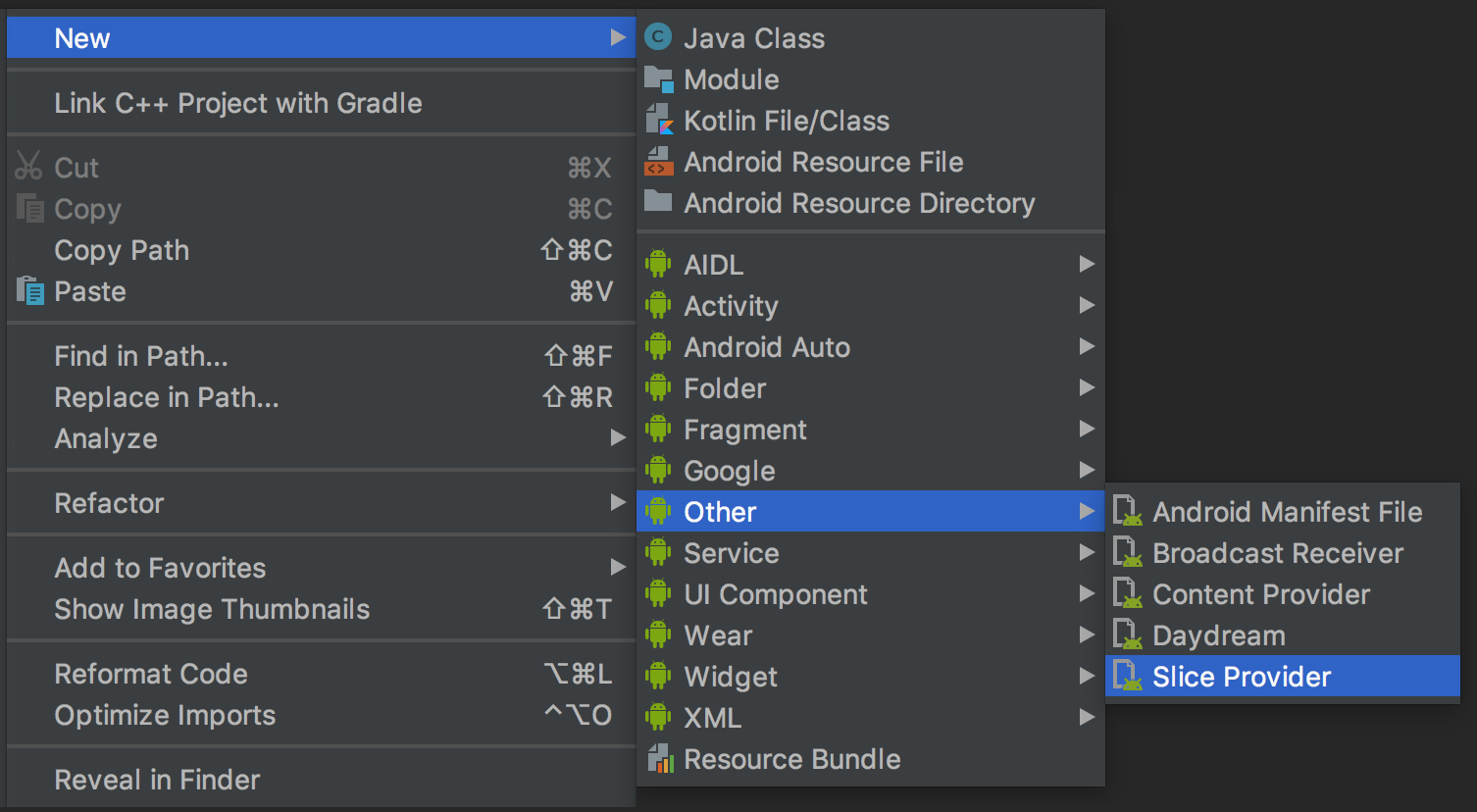 - android slices - Android Developers Blog: Android Studio 3.2 Canary