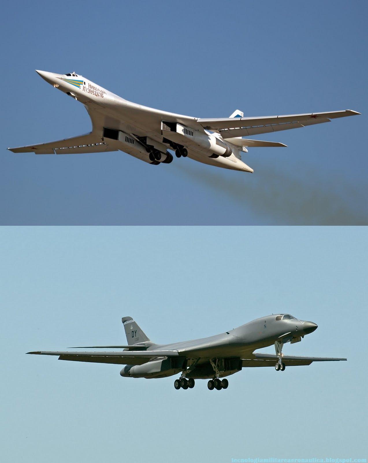 Poderío Militar: El modernizado bombardero ruso Tu-160 ... B1 Lancer Vs Tu 160