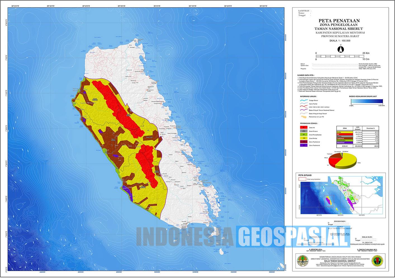 Peta Taman Nasional Siberut