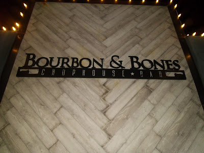 Bourbon & Bones restaurant sign