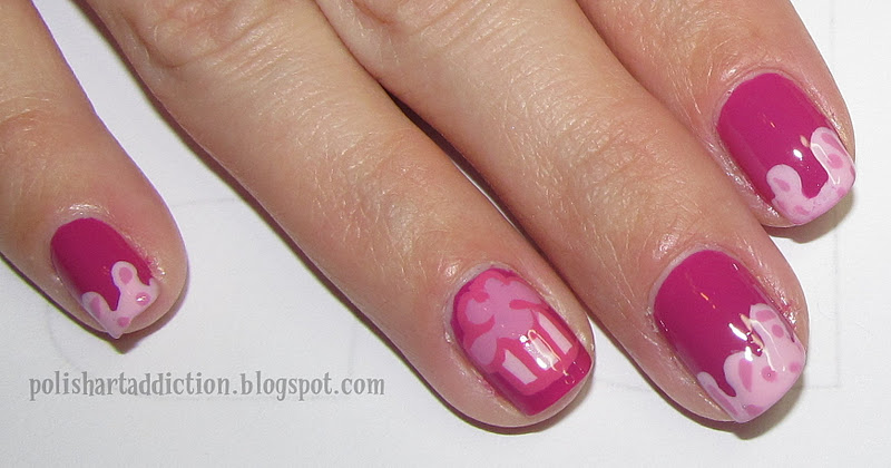 Drippy Cupcake Nail Art