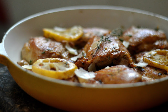 chicken, Lemon, Garlic, Skillet
