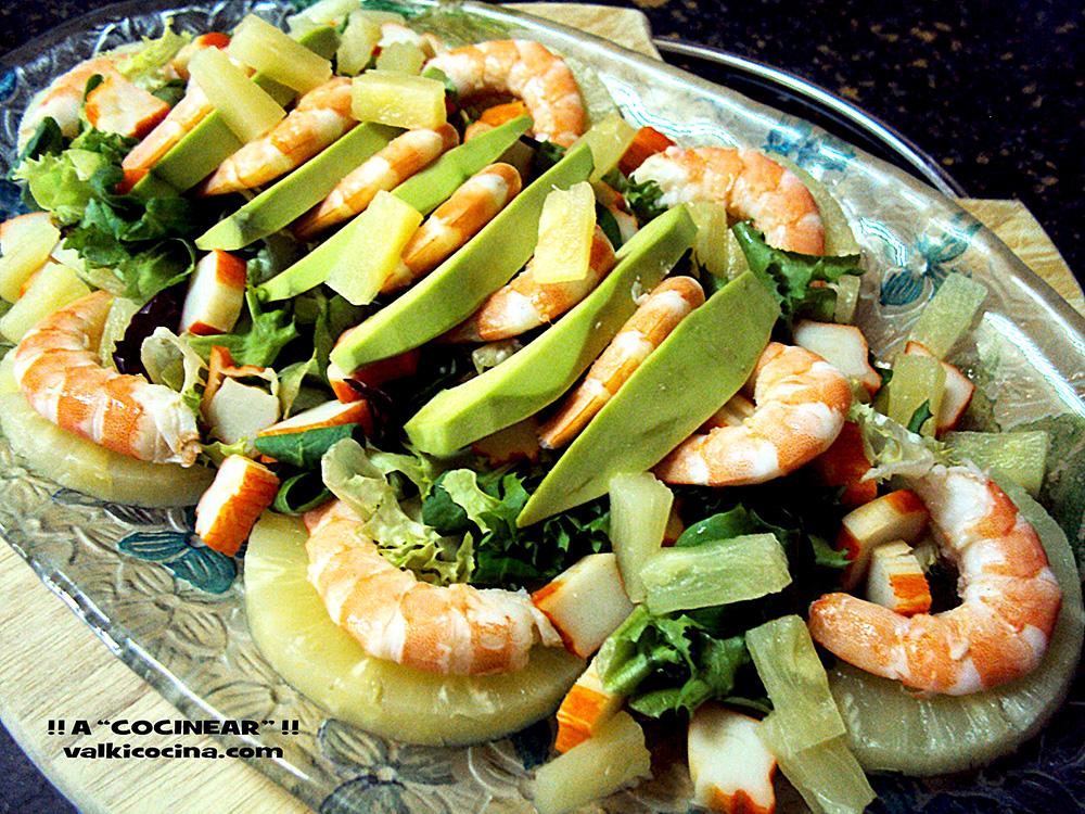 Ensalada De Marisco Con Aguacate Y Pina A Cocinear Recetas Valkicocina Com