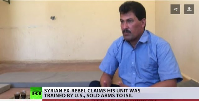 Syrian rebel defector says his US-trained unit sold arms to ISIS